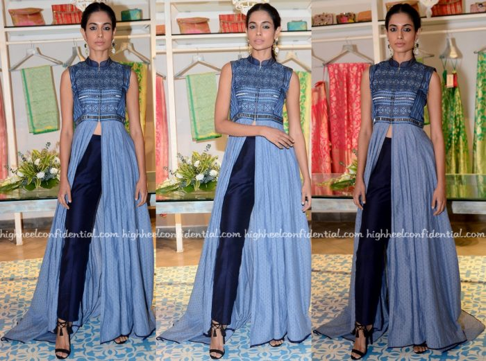 Sarah Jane Dias In Shruti Sancheti At The Designer's Collection Launch At Kashish Infioré