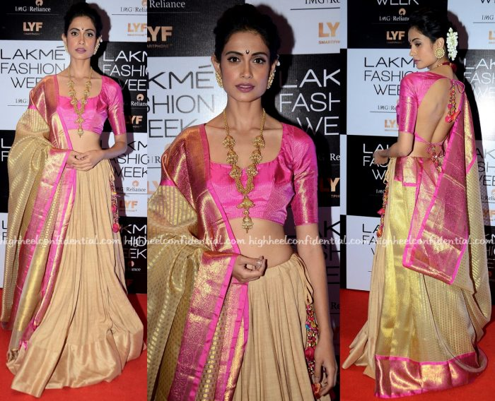 Sarah Jane Dias Photographed In Gaurang At Lakme Fashion Week Winter:Festive 2016