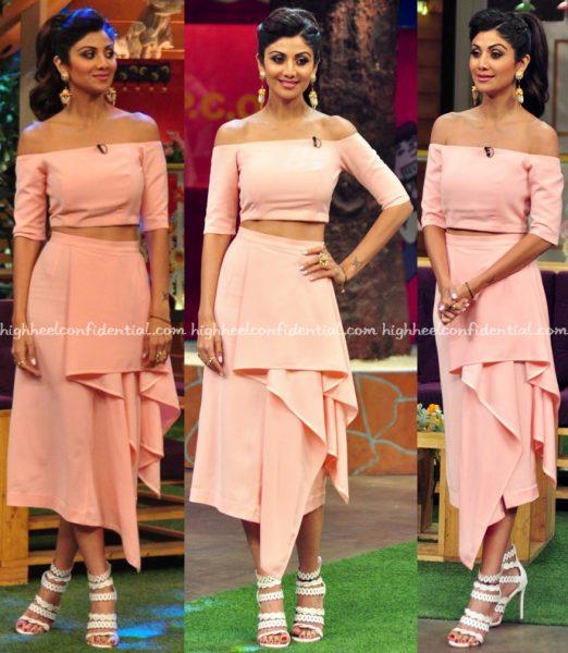 Shilpa Shetty Wears Lola By Suman B To The Kapil Sharma Show Sets-2