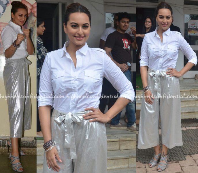 Sonakshi Sinha Wears Zara To Akira Promotions