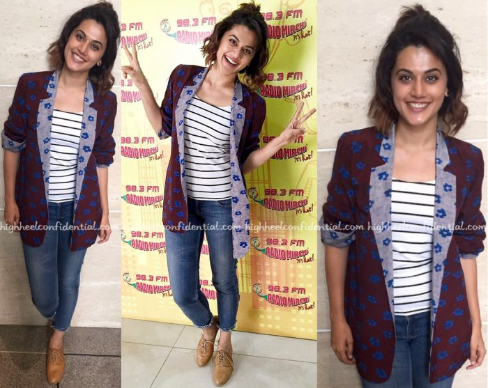 Taapsee Pannu Wears Verandah To 'Pink' Promotions At Radio Mirchi