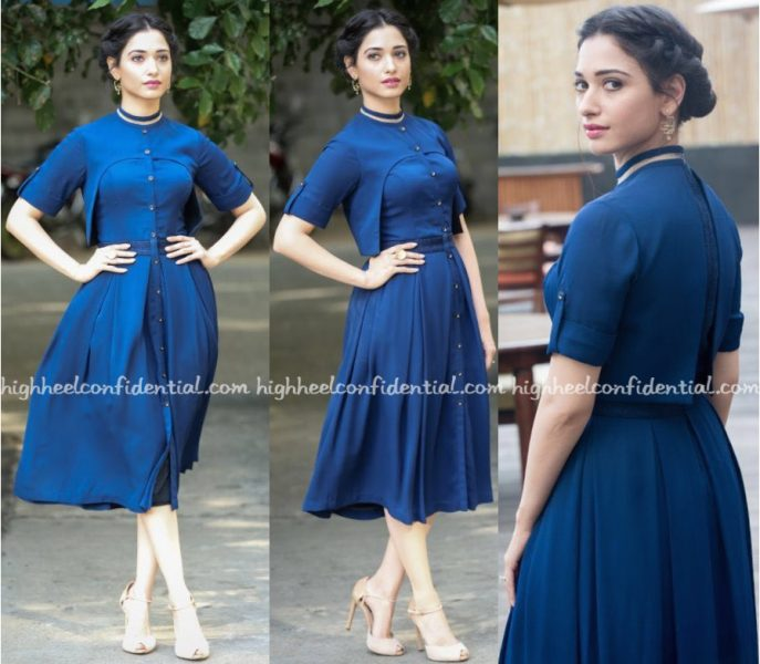 Tamannaah Bhatia Wears Manika Nanda And Quo To 'Dharma Durai' Promotions-1