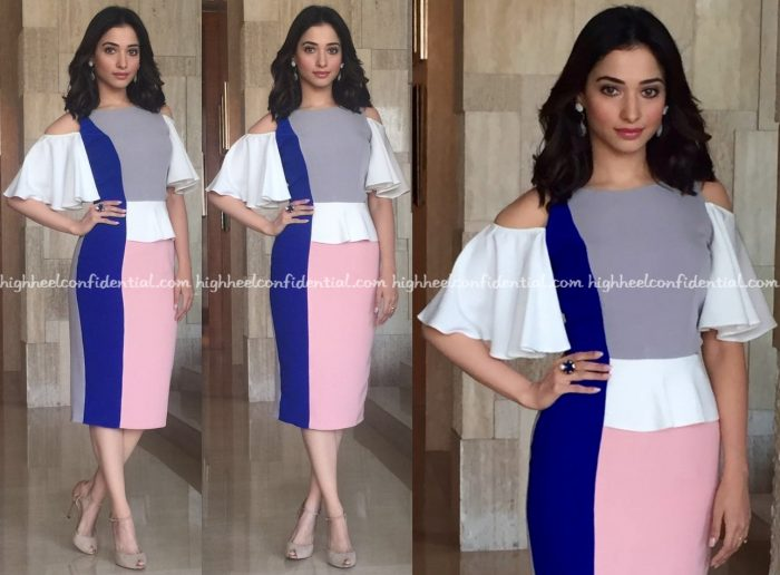 Tamannaah Bhatia Wears Manika Nanda And Quo To 'Dharma Durai' Promotions-2