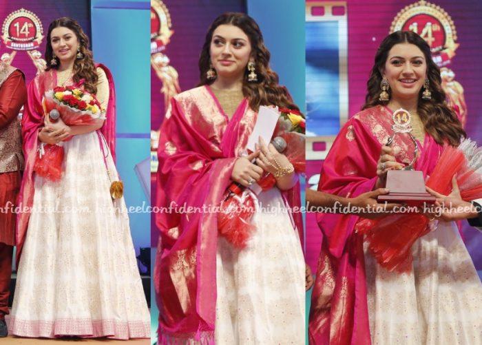 hansika-shravan-kumar-santosham-awards-2016