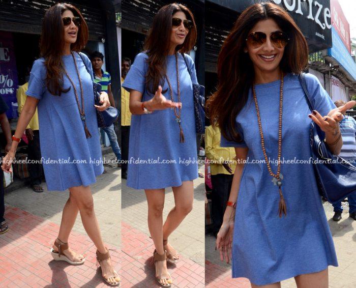 shilpa shetty photographed in mumbai