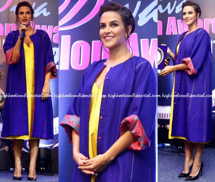 neha-dhupia-wears-sanjay-garg-to-idiva-salon-awards-2016-2