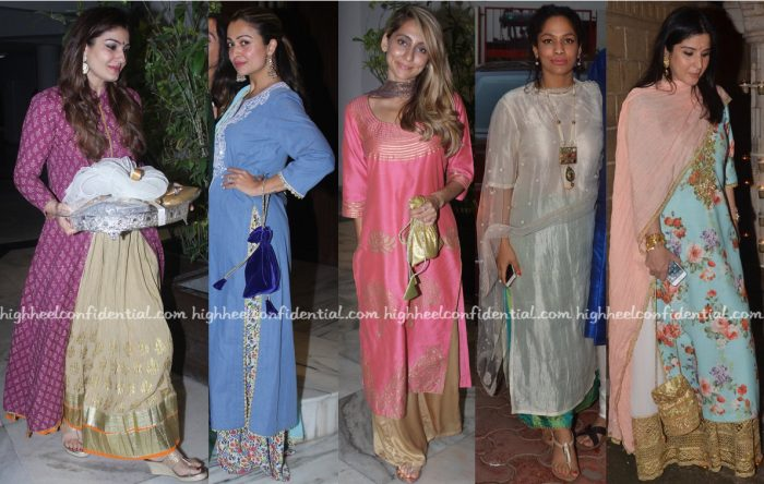 Raveena Tandon, Amrita Rao, Anusha Dandekar, Masaba Gupta, Maheep Kapoor At Ganesh Chaturthi Celebrations 2016-2