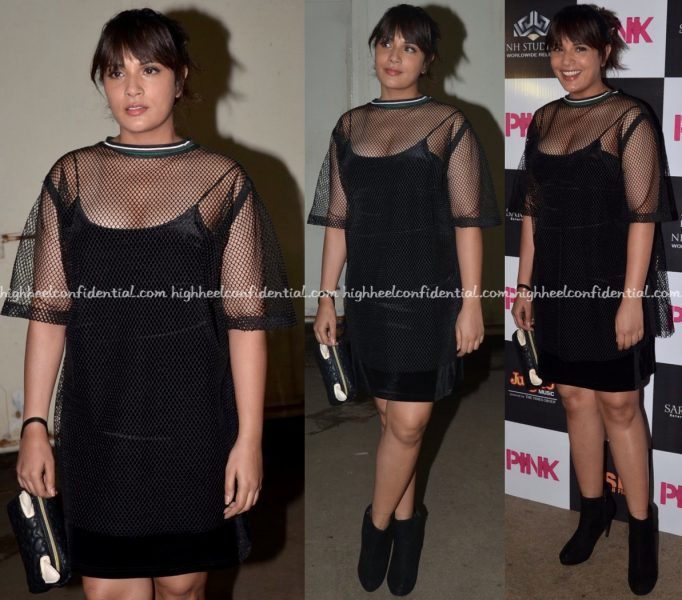 richa-chadha-in-sanchita-at-pink-screening
