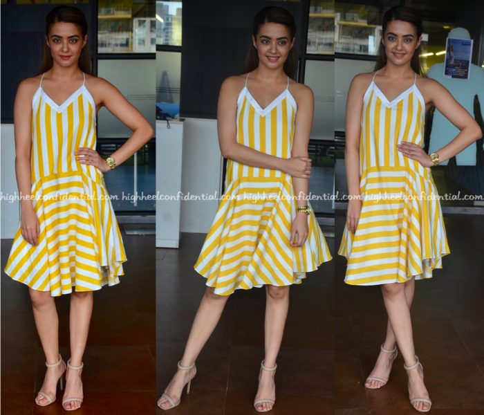 surveen-chawla-wears-aniket-to-parched-promotions