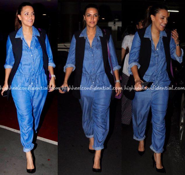 neha-dhupia-mumbai-airport-dior-bag-marks-and-spencer-hm-1