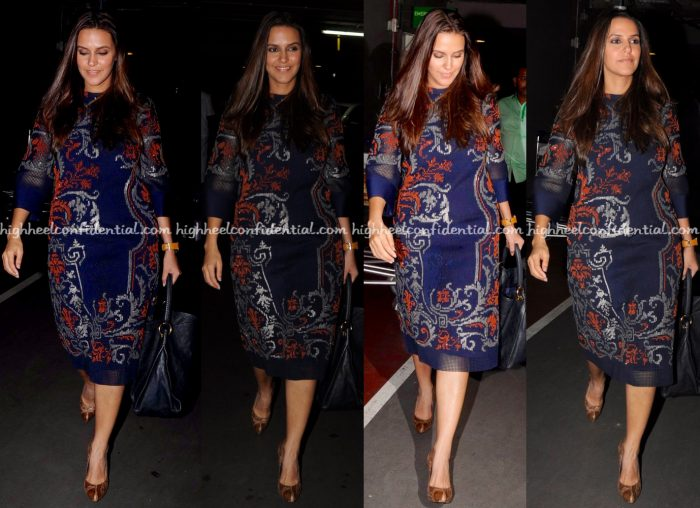 neha-dhupia-photographed-in-pankaj-and-nidhi-at-mumbai-airport