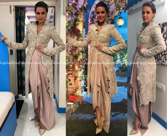 neha-dhupia-wears-anamika-khanna-and-urvashi-kaur-to-no-filter-neha-promotions-1