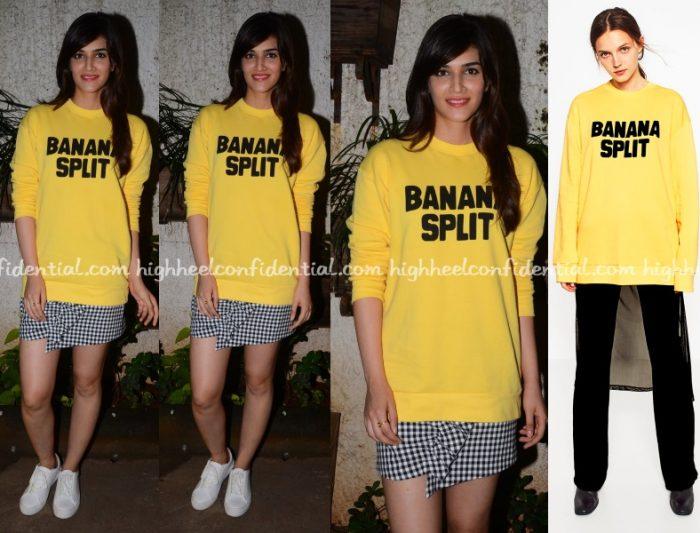 kriti-sanon-zara-banana-split-dhoni-screening