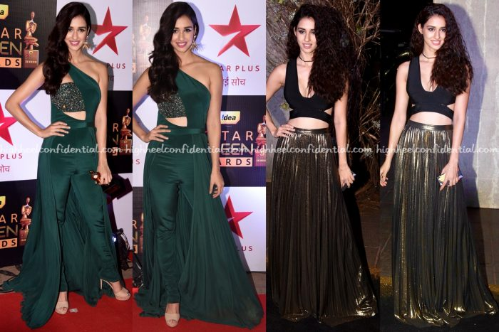 disha-patani-at-screen-awards-2016-in-swapnil-shinde-and-at-manish-malhotras-50th-birthday-do