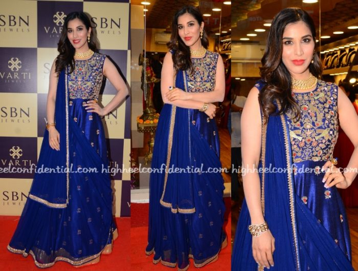 sophie-choudry-chamee-palak-jewellery-store-launch