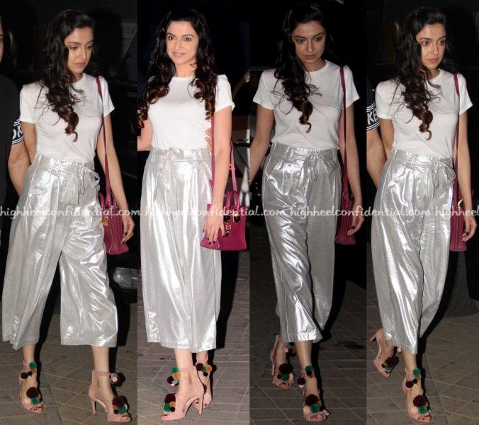 Divya Khosla Kumar In Zara At OK Jaanu Screening