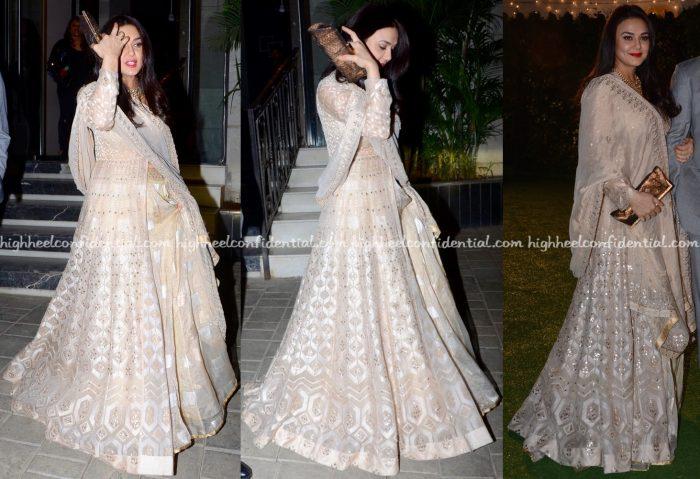 Preity Zinta Wears Anita Dongre To Trishya Screwvala-Suhail Chandhok Wedding Reception-2