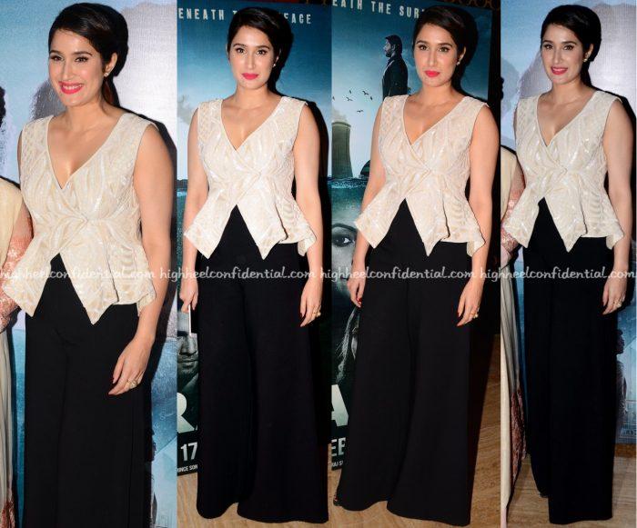 Sagarika Ghatge Wears Rozina Vishram And AQ:AQ To Irada Trailer Launch