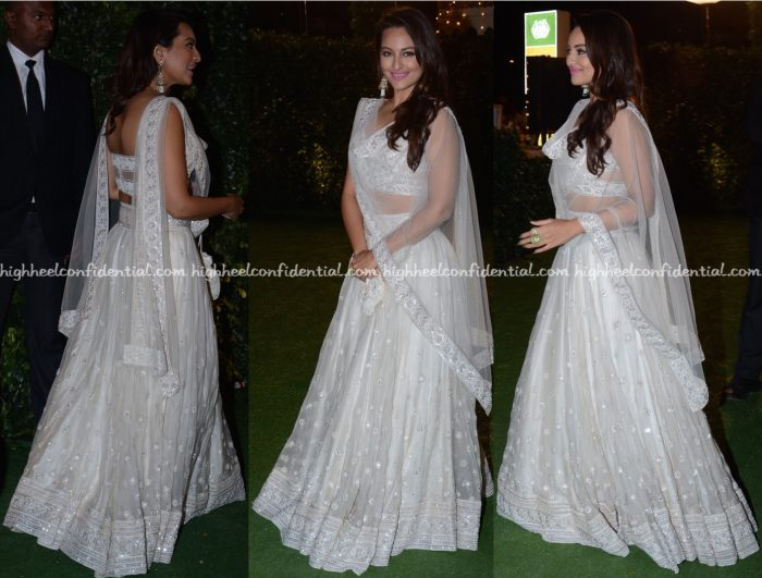 Sonakshi Sinha In Abu Jani Sandeep Khosla At Trishya Screwvala-Suhail Chandhok Wedding Reception-2