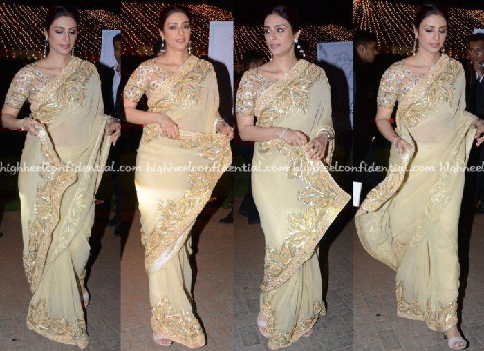 Tabu Wears Abu Jani Sandeep Khosla To Trishya Screwvala-Suhail Chandhok Wedding Reception