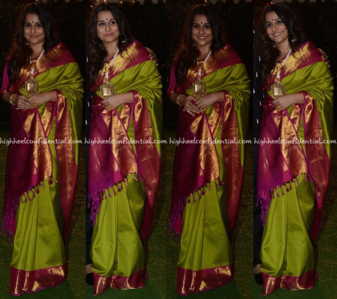 Vidya Balan At Trishya Screwvala-Suhail Chandhok Wedding Reception