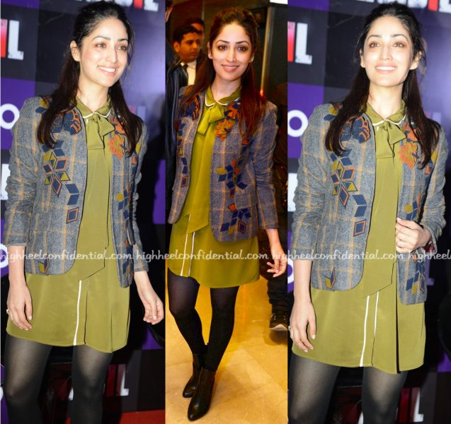 Yami Gautam Wears Not So Serious To Kaabil Promotions In Delhi-1