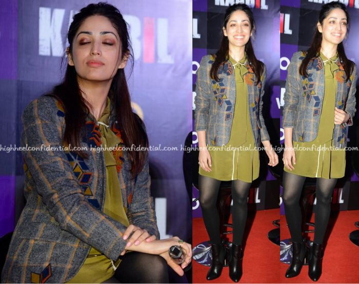 Yami Gautam Wears Not So Serious To Kaabil Promotions In Delhi-2